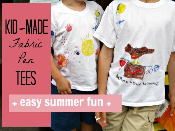 make official summer of fun tee shirts with simple fabric pens and markers