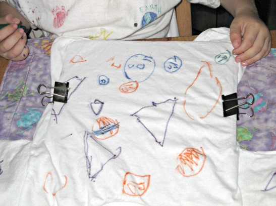 Fabric Pen Kid Made Tee Shirts
