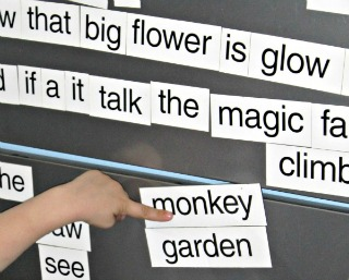 magnet poetry wall