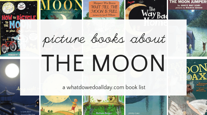 Moon themed picture books for children