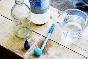 materials for homemade thermometer science project