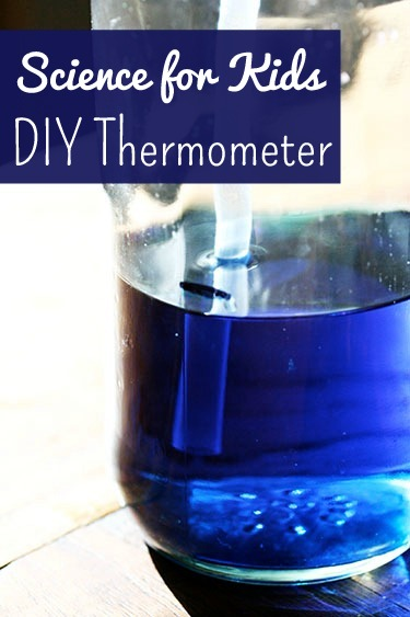 science project for kids: homemade bottle thermometer