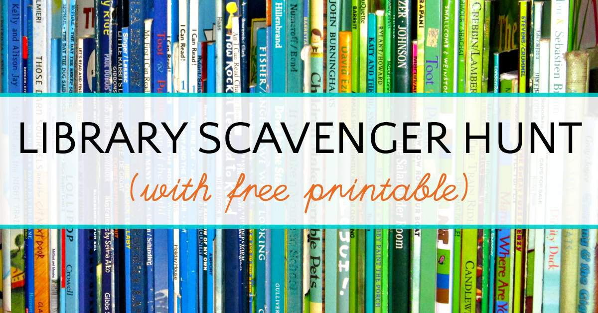 Library Scavenger Hunt on Chapter Worksheets