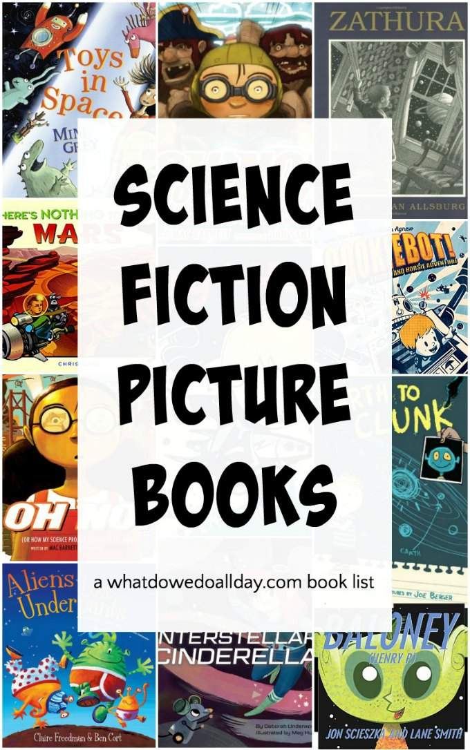 Science fiction picture books. These children's Sci-fi books are so fun! Which ones do your kids like?