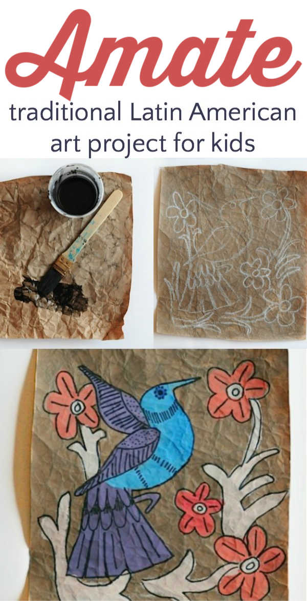 Amate art project for kids