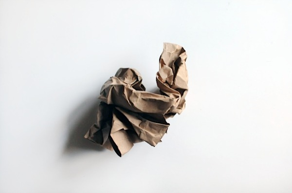 Crumpled paper for Amate art project