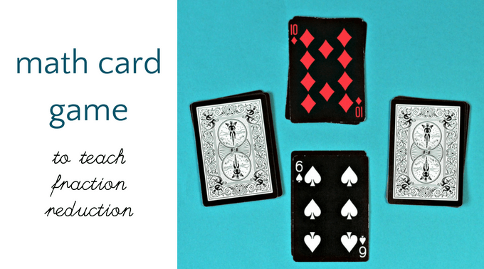 Fraction math card game