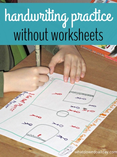 Make handwriting practice at home fun without worksheets
