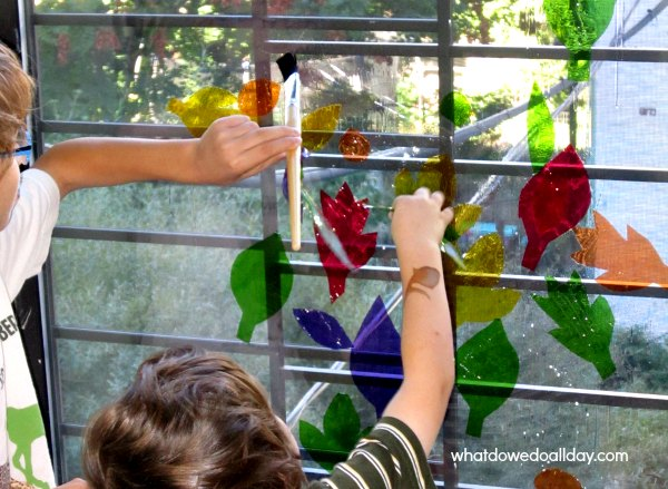 Fall Art Project: Faux Stained Glass Leaves