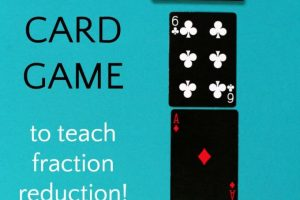 Math Card Game that Takes the Sting out of Fractions
