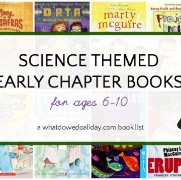 Science themed early chapter books for kids ages 6-10.