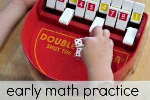 Math practice for kindergarteners with a game