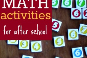 Playful ways to support math learning after school. +