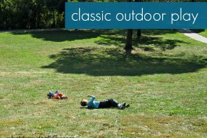 Rolling down the hill: classic outdoor activity