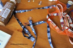 Supplies for handmade ribbon paper clip bookmarks