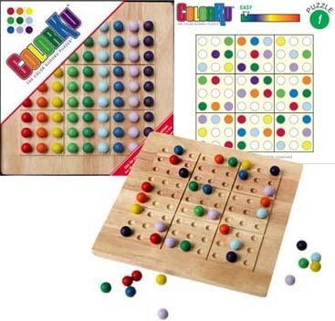 Colorku board, box and card example