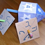 Super Easy Hanukkah Dreidel Craft for Kids