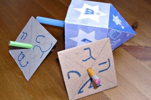 Super Easy Hanukkah Dreidel Craft for Kids