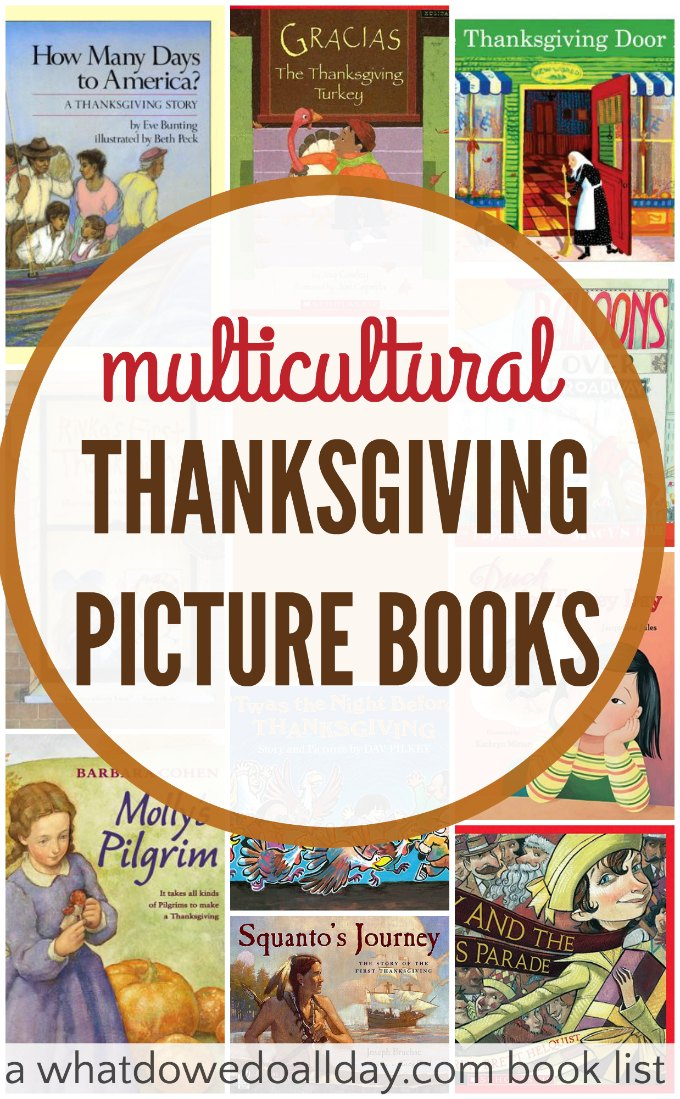 10 Multicultural and diverse Thanksgiving books.