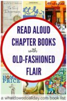 Read aloud books for kids. Books have a classic, old fashioned feeling