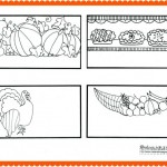 Thanksgiving Coloring Page: Place Cards {or Thankful Cards}