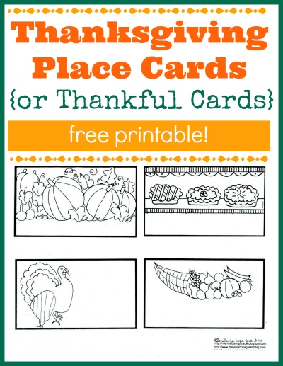 thanksgiving placecards free