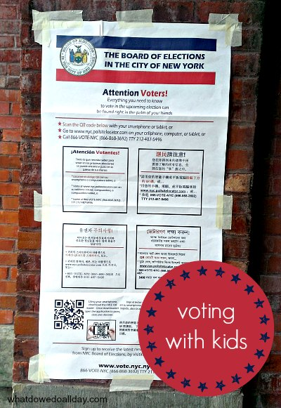 Civics activity for kids -- take them with you to the polls to vote!