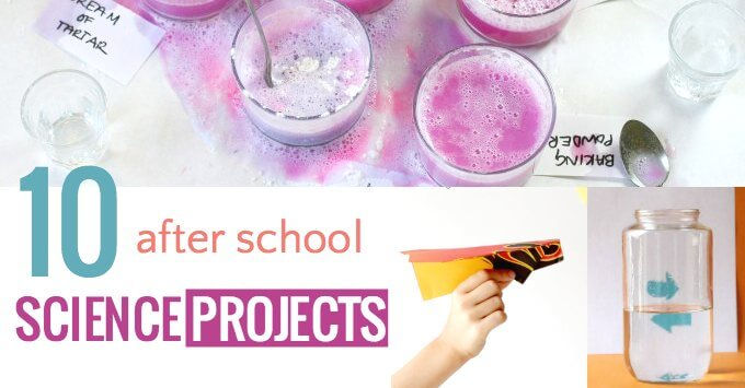Fun after school science projects for kids.