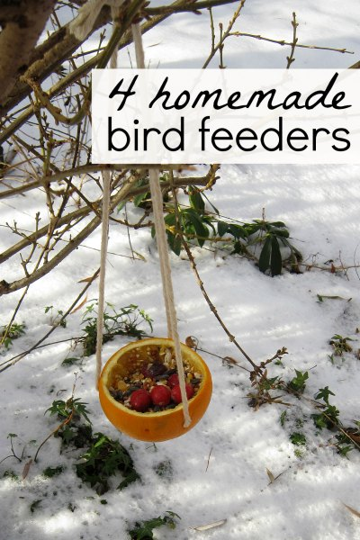 Easy bird feeder crafts for kids