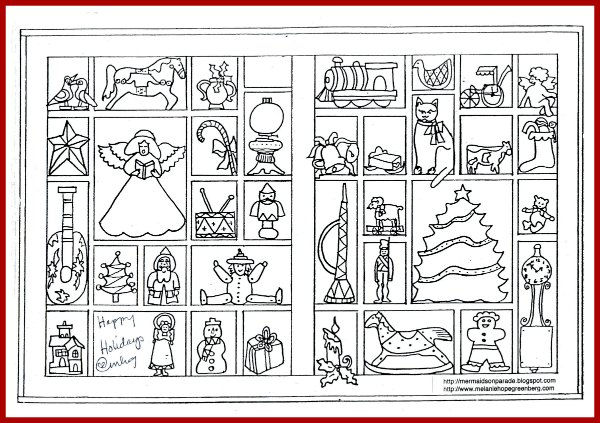 Christmas Coloring Page Plus Activity