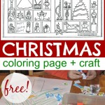 Christmas Coloring Page (Plus Activity)