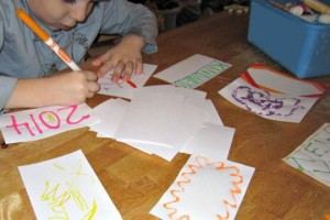 Make kindness resolution cards with your kids