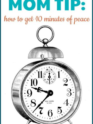 My favorite mom tip to get some peace and quiet!
