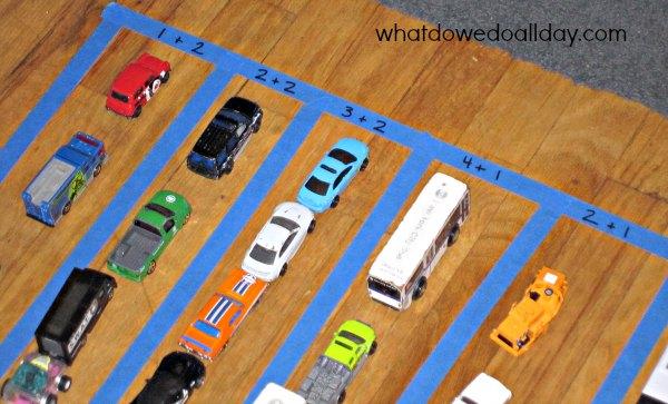 Fun Math Activity Parking Lot Addition