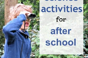 Science learning activities for afterschool