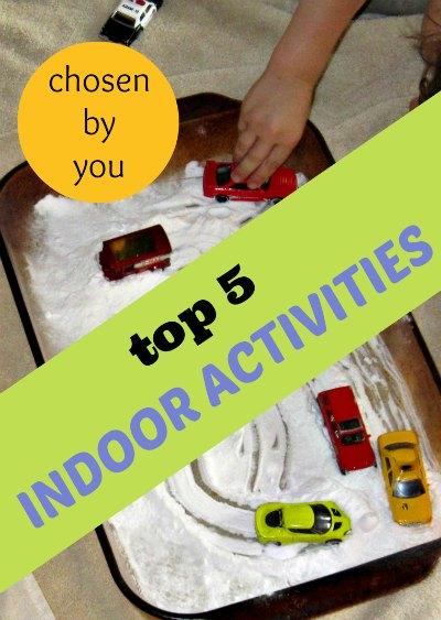 The best indoor activities for kids chosen by readers in 2013.