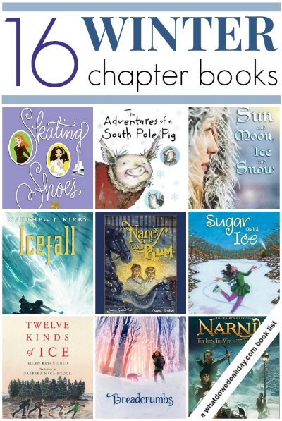 Winter chapter books for kids: Fairy tales, animal stories, ice skating and more.
