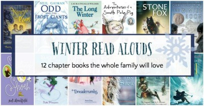 Winter themed chapter books to read aloud to the whole family.