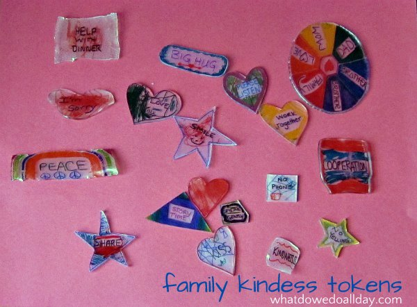 Kindness tokens help encourage family harmony