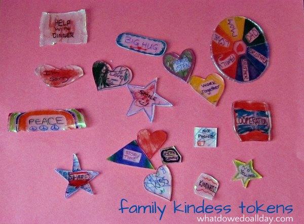 Kindness tokens help encourage family harmony
