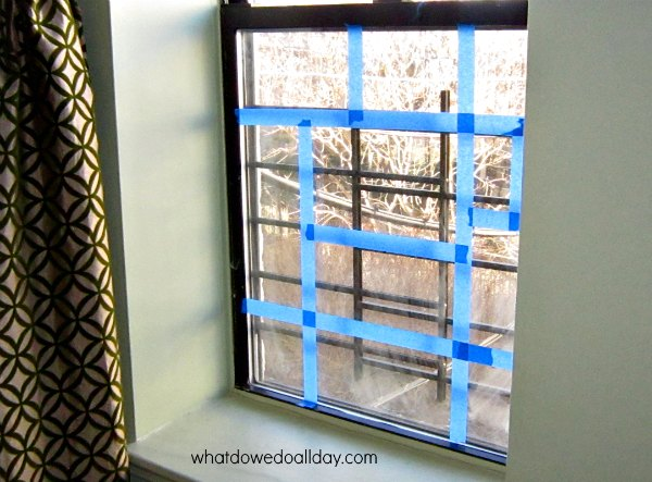 Mondrian window art project idea