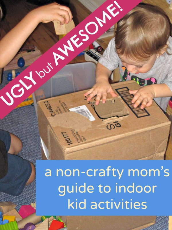 The BEST easy indoor activities for kids. I love how these are so entertaining by take no effort. Not everything has to look perfect - your kids won't care!