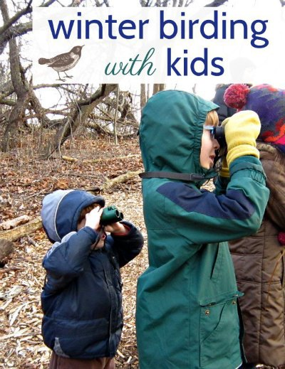 Get outside in the winter! Tips from a parent for winter birding with kids.