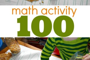 Counting to 100 math activity for kids