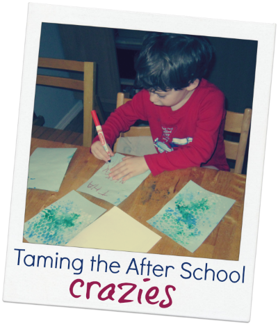Taming the after school crazies with small activities