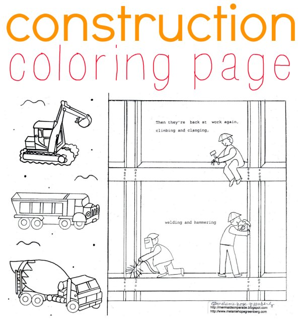 Construction Coloring Page for Kids Who Love Diggers!