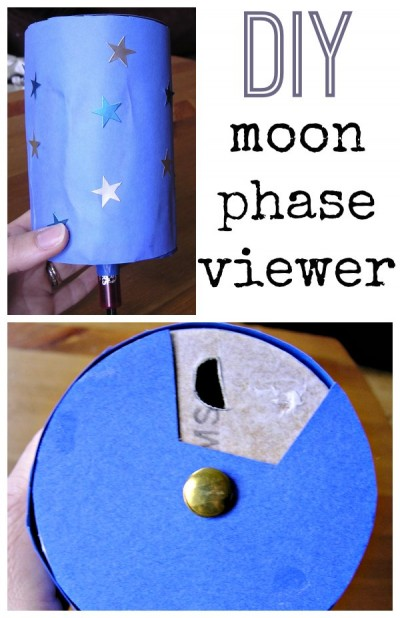 Moon phase activity for kids. Build a moon phase viewer.