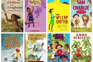 Selection of multicultural chapter books for kids with diverse characters