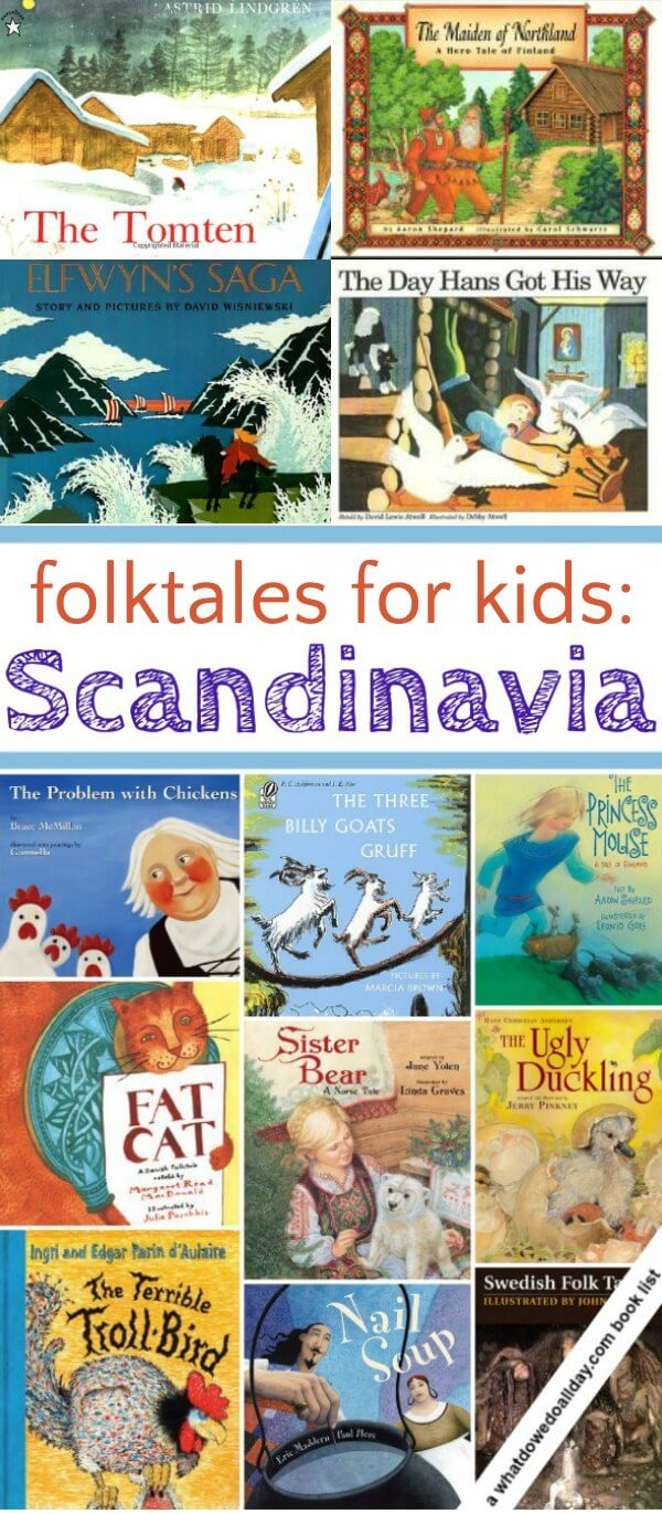 Scandinavian folk tales for kids. Picture books to read aloud