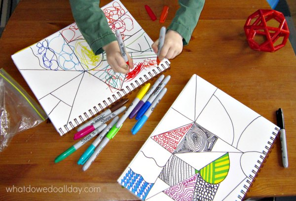Zentangles with kids for creative expressive art